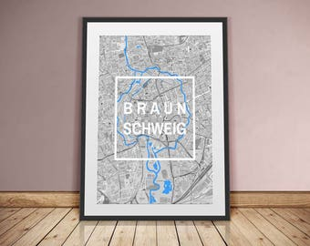 Braunschweig-framed city-digital printing