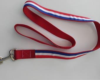 Red, White & Blue 4' heavy duty nylon lead