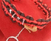 Beautiful Red and Black paracord collar