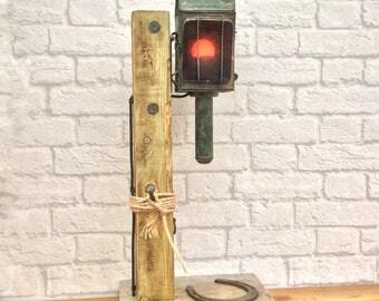 Rustic Industrial Lamp, Vintage Rustic Lamp, Industrial Lighting, Industrial Decor, Rustic Lighting, Vintage Carriage, Carriage Lamps