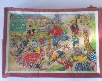 The Animal Race 1950s G.J.Hayter Jigsaw Puzzle.