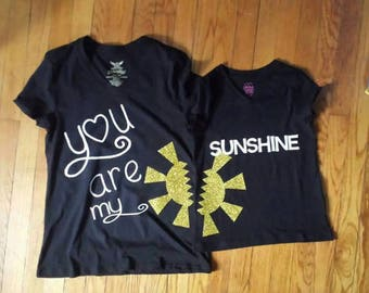 Matching Family You Are My Sunshine T-Shirts *only use this listing if buying 3 or more.
