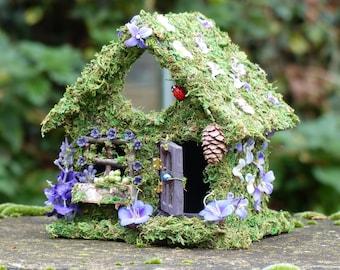 Fairy House - Bellflower Fairy Cottage - Fairy Garden, Fairy Miniature, Fairy Light, Nite Light, Home Decor, Fae House, Fairy Gift