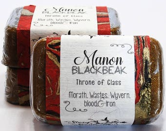 Manon Blackbeak, Throne of Glass by Sarah J. Maas, Glycerin Soap Bar - Handmade Custom Book Character Scent - Gold eyes, Witch, Crochan