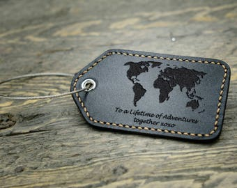 Personalized Luggage Tag / Luggage Tag /  Leather Luggage tag / Anniversary Gift / Valentines Gift / Travel Gift - LG02#91