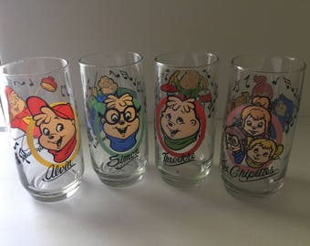 Vintage 1985 Alvin & The Chipmunks and The Chipettes Set of 4