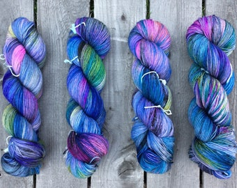 Parti Poodles- Sturdy Sock Hand Dyed  Sock Yarn Superwash Merino Nylon