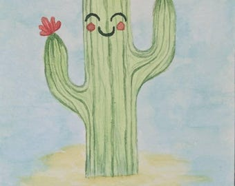 "Cactus Greeting Card/Post Card. ""Don't be a prick!"""