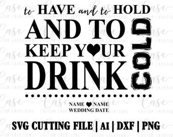 Wedding SVG Cutting File, Ai, Dxf and Png | Instant Download | Cricut and Silhouette | Wedding Favor | Wedding | Bride