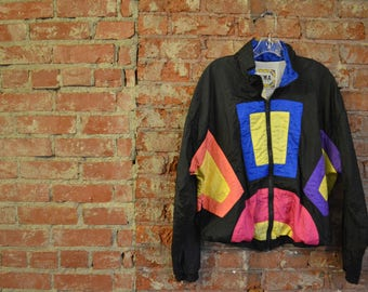 Vintage 90s Retro Fall Style Windbreaker Zip-Up Jacket