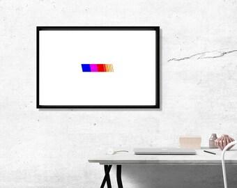 Custom Frank Ocean Style Poster, Minimalist Rainbow Gay Pride Posters Prints, Yeezy Poster Art Print, Minimal Art Work 12 x 18 Wall Prints