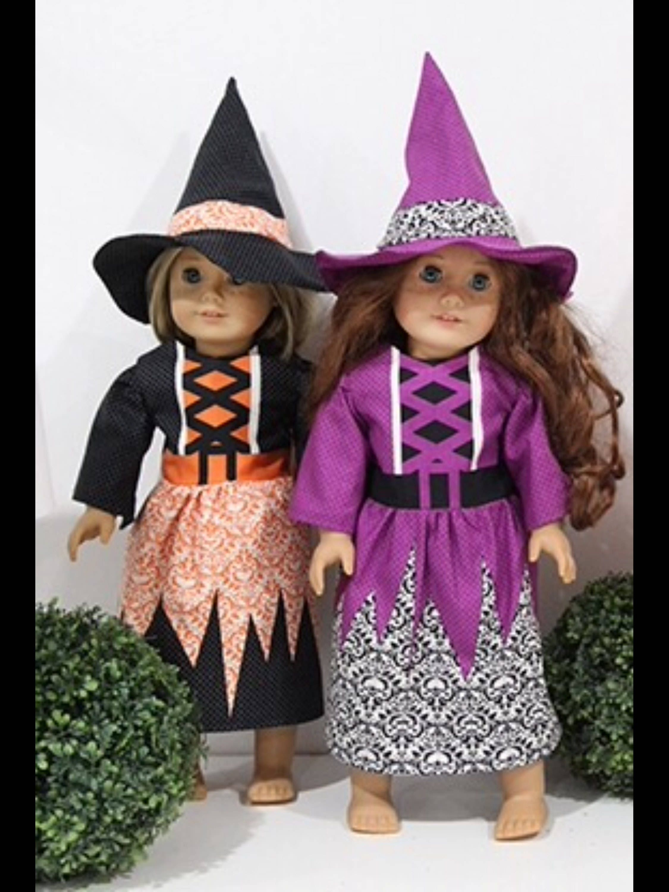 Halloween Witch Costume Sewing Pattern Fabric Panel to fit 18 inch ...