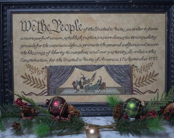 We the People cross stitch pattern (Hard-copy)
