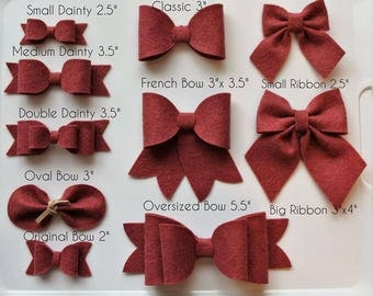 Felt bow || Hair accessories || Bow headband || Bow hair clips ||  Baby girl || Baby shower || Photo shoot || gift for girl ||