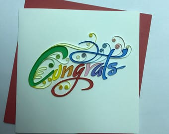 Congrats Quilling Greeting Card