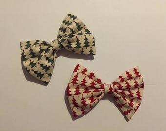 Handmade, Christmas Hair Bow, Christmas Tree bow