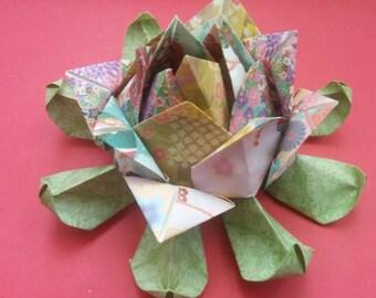 Real origami Lotus