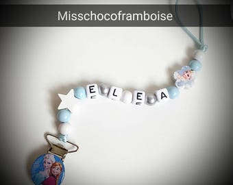 Personalized pacifier clip wooden beads
