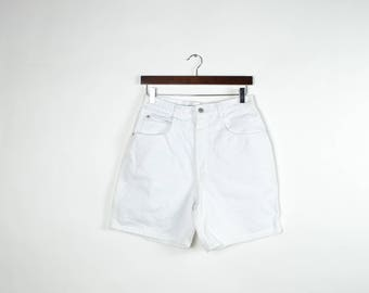 Vintage High Waisted White Shorts