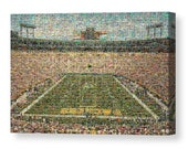 Unique, Large Green Bay Packers Mosaic Art Print of Lambeau Field from over 330 Great Player Trading Cards.