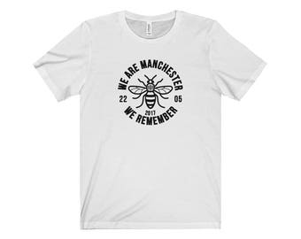 Manchester Bee 007 We Are Manchester Manchester Arena Streetwear Manchester Pride Tshirt 90S Hip Hop Clothing
