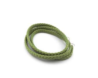 Green mens bracelet
