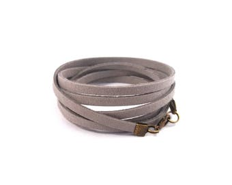 Gray bracelet for men