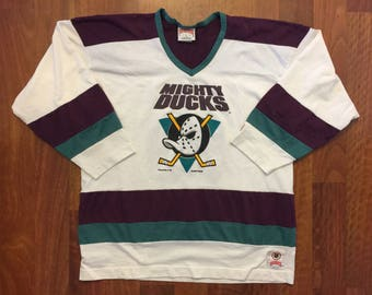 Vintage Anaheim Mighty Ducks Longsleeve Jersey Style Shirt Size XL