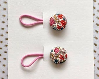 Hair bobbles - Liberty of London - Fabric covered button hair accessories