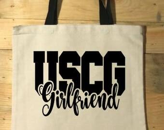 Coast Guard Girlfriend Tote Bag