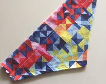 Geometric slip on bandana