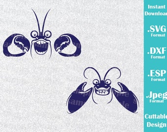INSTANT DOWNLOAD SVG Disney Inspired Tamatoa from Moana for Cutting Machines Svg, Esp, Dxf and Jpeg Format Cricut Silhouette
