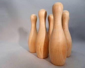 USA Made Wooden Bowling Pins