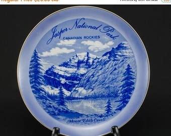 FLASH SALE Jasper National Park /Canadian Rockies /Mount Edith Cavell / Souvenir Plate 1960s