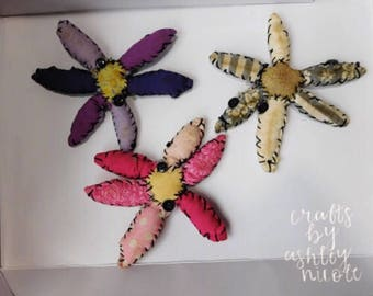 Primitive Dasiy Flower Ornament Bowlfiller