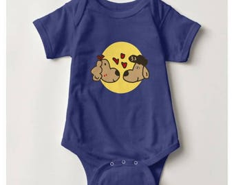 Halo in Love Baby Bodysuit_Royal Blue