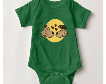 Halo in Love Baby Bodysuit_Kelly Green