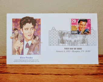 Vintage 1993 Elvis Presley First Day Issue Collectors Stamp 4 Rare