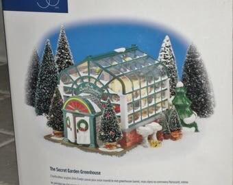 Original Snow Village, The Secret Garden Greenhouse, 1998 Retired Vintage Collectible, lighted Village, Department 56, Christmas Decorations