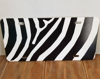 Zebra license tag