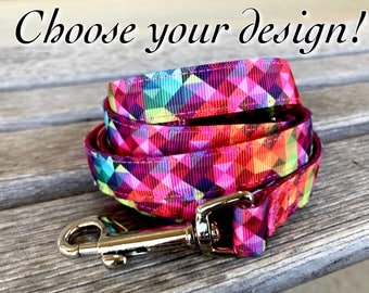 "Matching 5/8"" Leash, Unique Dog Leash, Choose Your Style Leash, Dog Lead, 5/8"" Dog Leash"