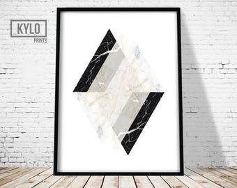 Wall Art Print, Geometry Print, Abstract Poster Printable, Geometry Art, Abstract print, Marble Print, Modern Print, Scandinavian Art Print