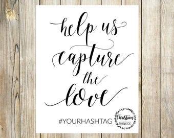 Hashtag Wedding Sign | Wedding Hashtag Sign | Hashtag Sign | Wedding Hashtag | Instagram Wedding | Custom Hashtag Sign | Printable Hashtag
