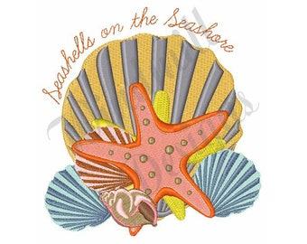 Seashells & Seashore - Machine Embroidery Design