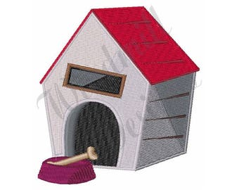 Dog House - Machine Embroidery Design