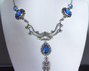 Blue iolite  necklace
