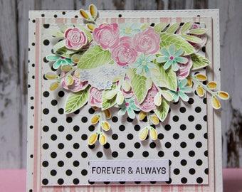 Card with flower arrangement