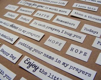 Stickers spiritual words - sticker spiritual phrases - Sticker embellishment