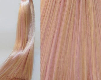 25% OFF SALE LILAC Blonde Saran Doll Hair for Custom Ooak/Rerooting