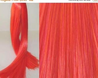 25% OFF SALE TANGERINE Scream Saran Doll Hair for Custom Ooak/Rerooting
